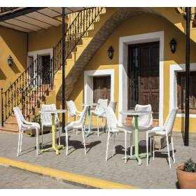 Mesas interior y terraza abatibles encajables Lleida