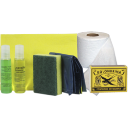 30 Pack amenities de cocina limpieza apartamentos Papel higiénico y cerillas