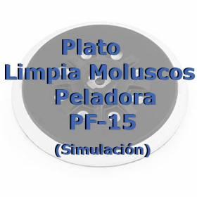 Plato Abrasivo Moluscos Peladora Pf 15