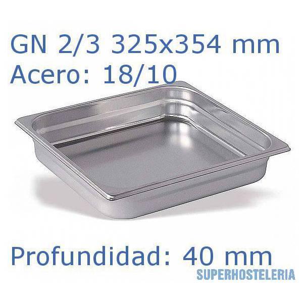 Cubeta Gn 2 3x40mm 18 10   08Mm