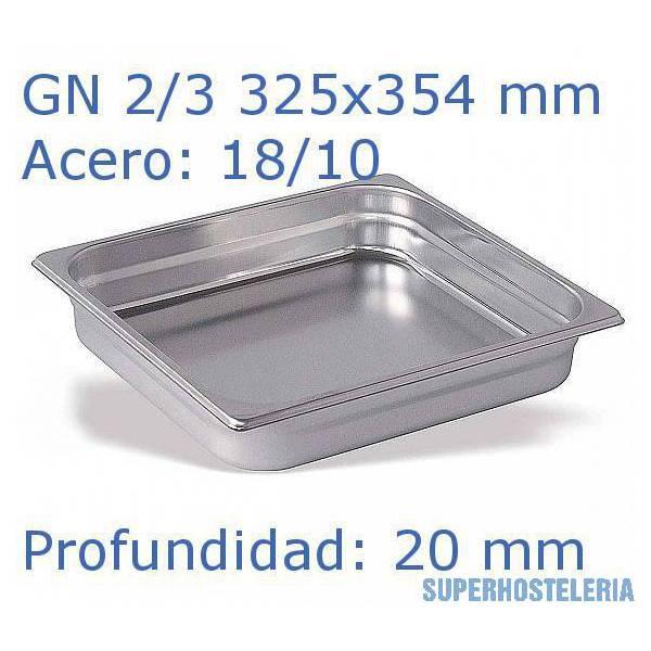 Cubeta Gn 2 3x20mm 18 10   08Mm