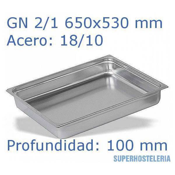 Cubeta Gn 2 1x100mm 18 10   08mm