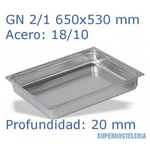 Cubeta Gn 2 1x20mm 18 10   10mm