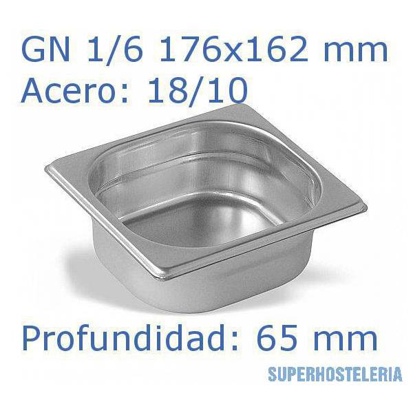 Cubeta Gn 1 6x65mm 18 10   07mm