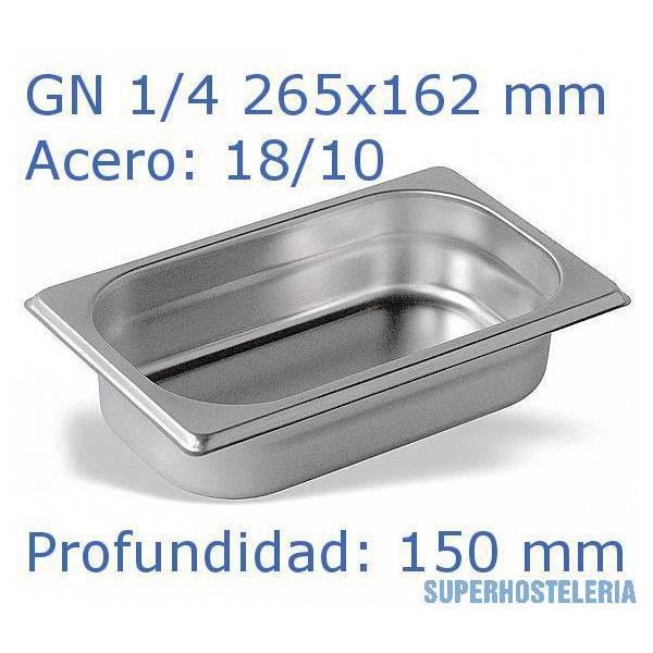 Cubeta Gn 1 4x150mm 18 10   07mm