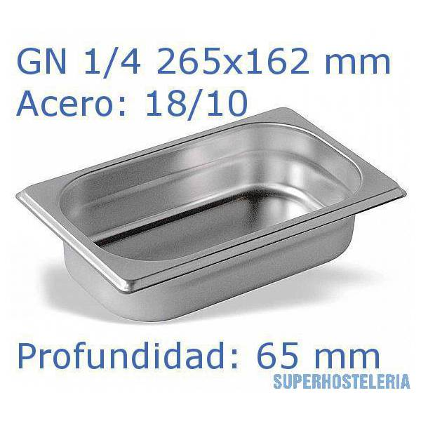 Cubeta Gn 1 4x65mm 18 10   07mm suministros hosteleros