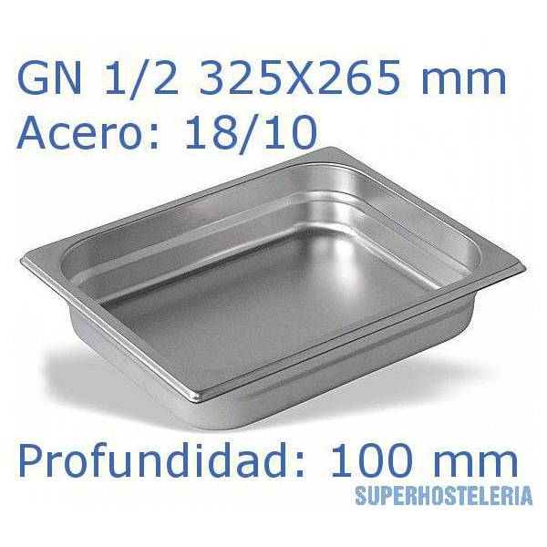 Cubeta Gn 1 2x100mm 18 10   08mm