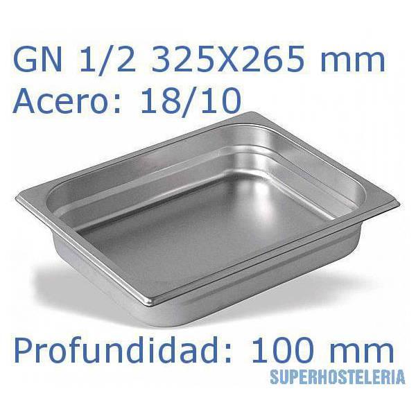 Cubeta Gn 1 2x100mm 18 10   08mm suministros hosteleros