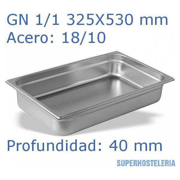 Cubeta Gn 1 1x40mm 18 10   08mm