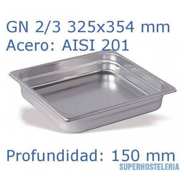 Cubeta Gn 2 3x150mm Aisi201  08mm