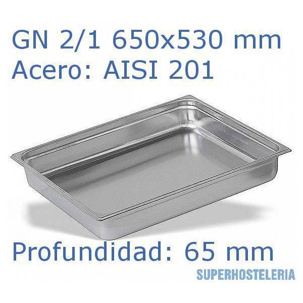 Cubeta Gn 2 1x65mm Aisi201   08mm