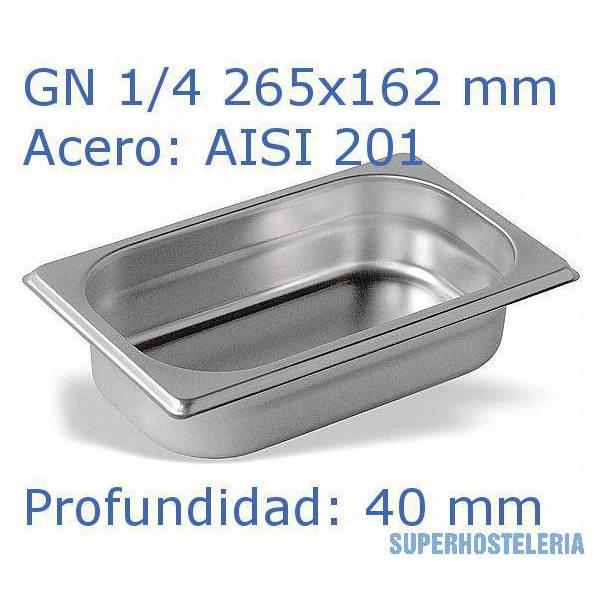 Cubeta Gn 1 4x40mm Aisi201   06mm suministros hosteleros