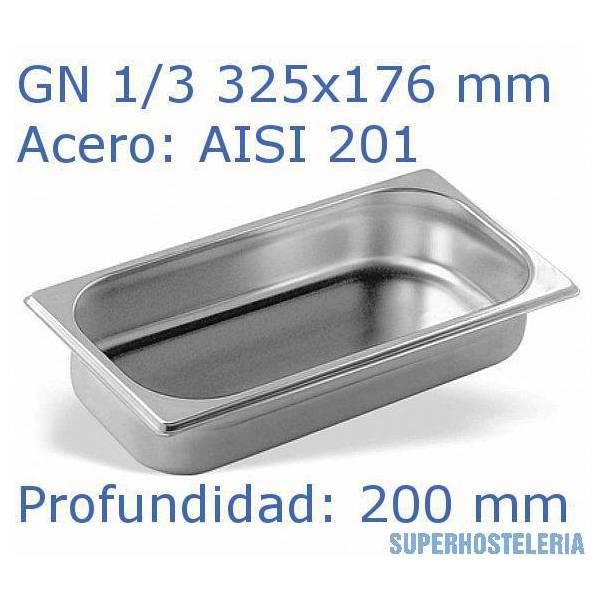 Cubeta Gn 1 3x200mm 201   08mm