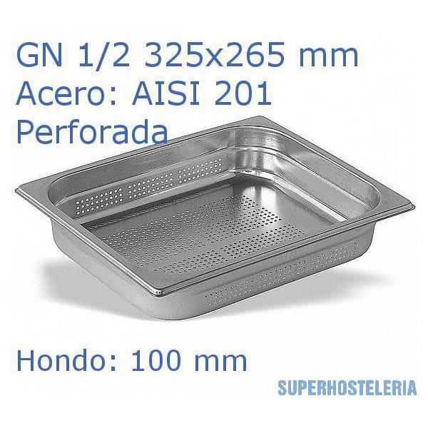 Cubeta Perforada 1 2x100mm Aisi201   08mm suministros hosteleros