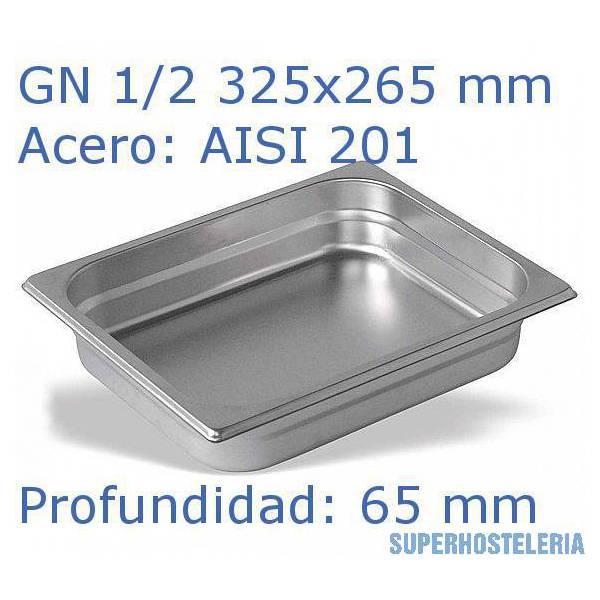 Cubeta Gn 1 2x65mm Aisi201   08mm