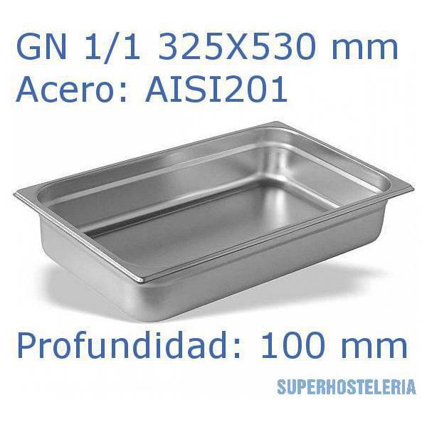 Cubeta Gn 1 1x100mm Aisi201   08mm