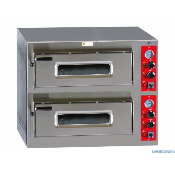 Horno Pizza Eléctrico Doble Cámara Hp  6+6 330mm   Trifásico