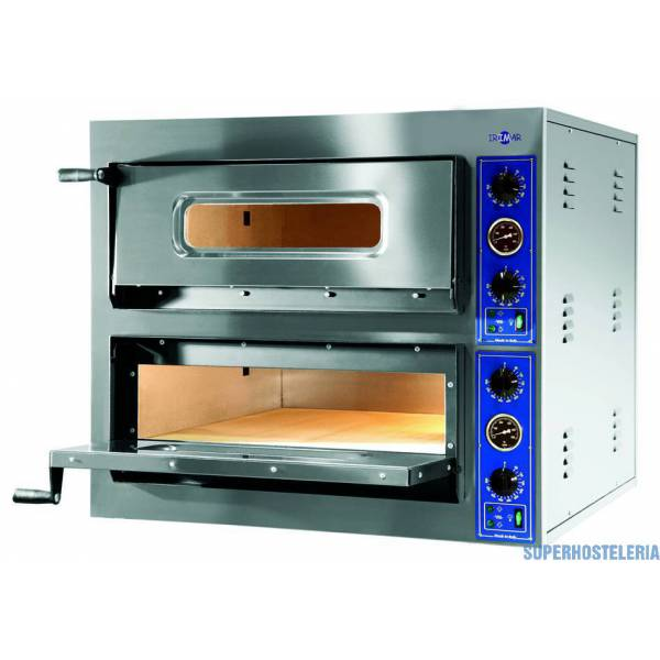 Horno Pizza Eléctrico Doble Cámara P 6+6 360mm   Trifásico  suministros hosteleros