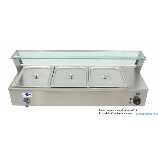 Vitrina Baño María Vi 4Gn1 2 suministros hosteleros