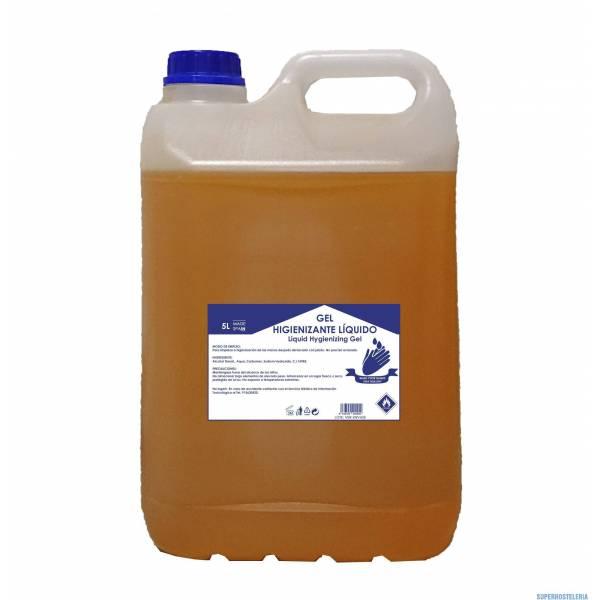 caja 4 garrafas gel hidroalcohólico 5 litros higienizante suministros hosteleros