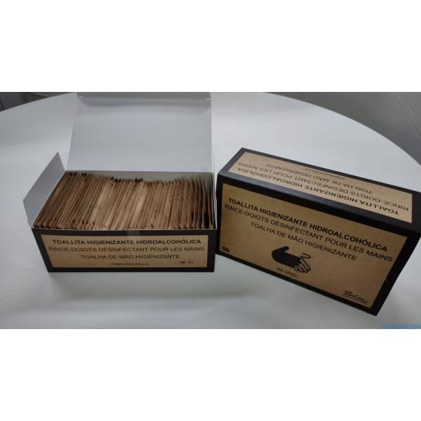 500 Toallitas hidroalcohólicas higienizantes de manos en sobre individual 8X13 Aloe Vera