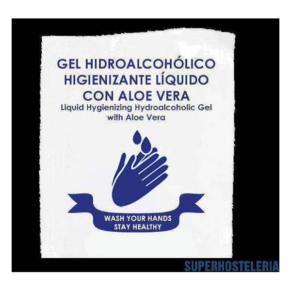 300 sobres Gel monodosis hidroalcohólico Aloe Vera 4 ml