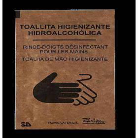 500 Toallitas hidroalcohólicas higienizantes de manos en sobre individual 6 X8 Aloe Vera