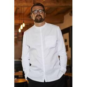 Chaquetilla De Cocina Entallada Hombre Manga Larga Blanca Colores Ithurria