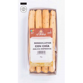 Caja rosquilletas de trigo con chía. Snack IFS Cert