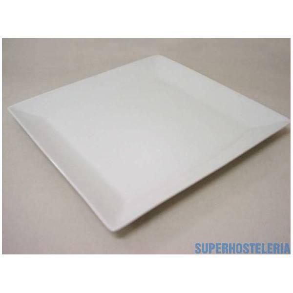 Bandeja Ming Cuadrada Porcelana Blanco