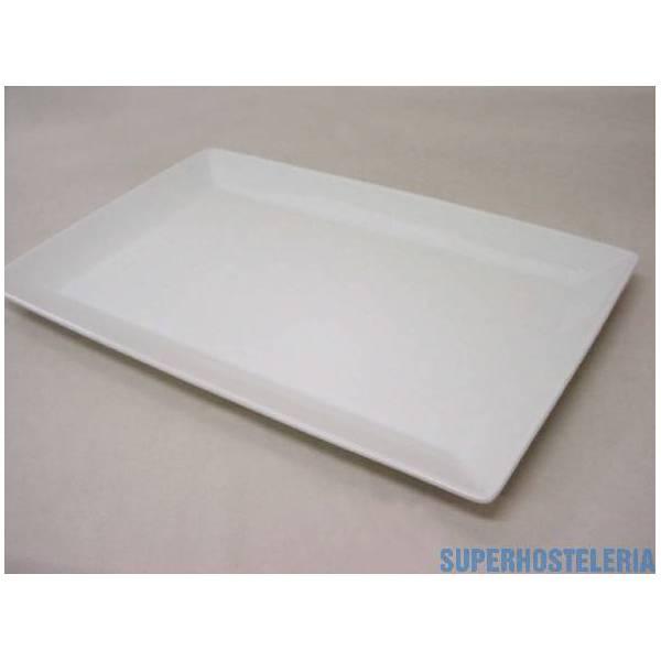 Bandeja Ming Rectangular Porcelana Blanco