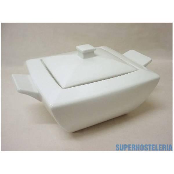 Sopera Cuadrada Porcelana Blanco
