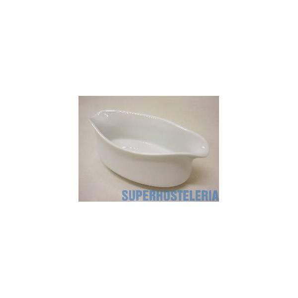 Salsera Ancha Curva Porcelana Blanco