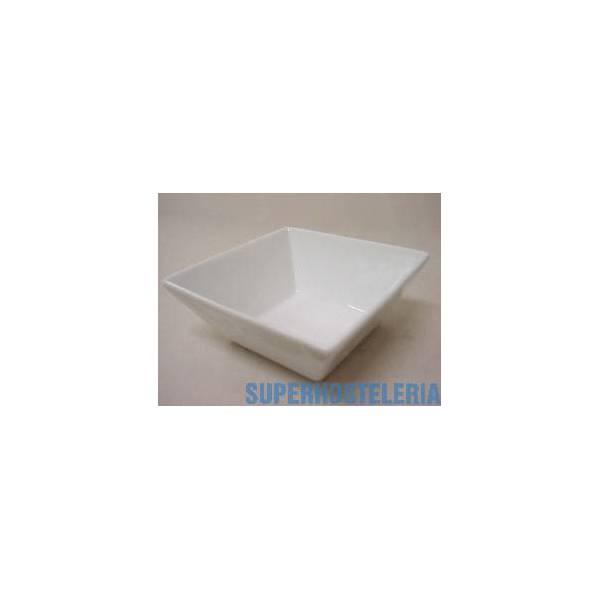 Bowl Ming Cuadrado Peque Porcelana Blanco