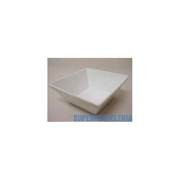 Bowl Ming Cuadrado Peque Porcelana Blanco suministros hosteleros