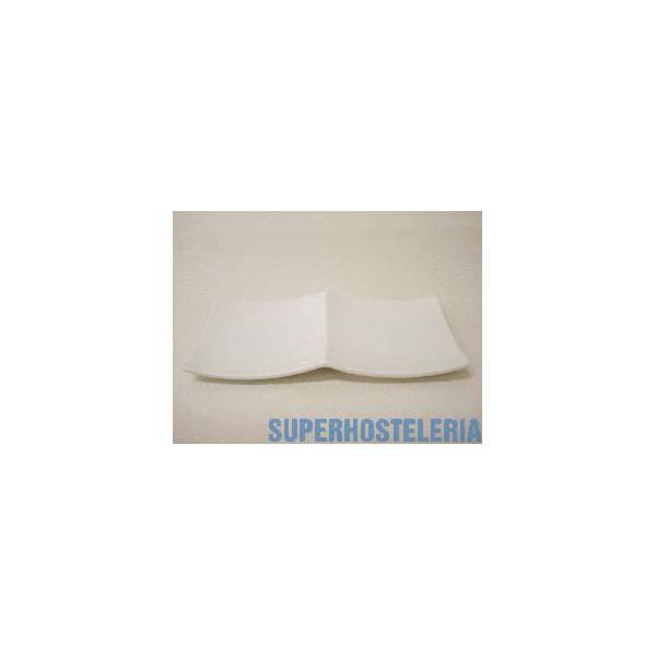 Entremesero 2 Pequena Porcelana Blanco suministros hosteleros