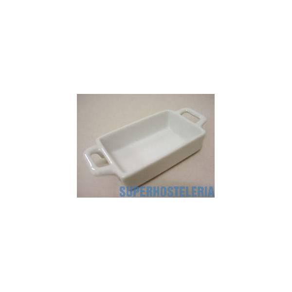 Cuenco Rectangular Asas Porcelana Blanco suministros hosteleros