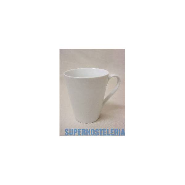 Taza Mug Conica Porcelana Blanco