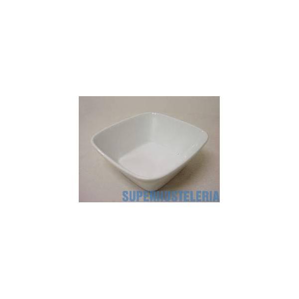 Bowl Reims Cuadrado Porcelana Blanco suministros hosteleros