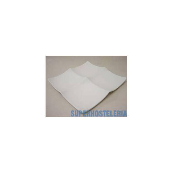 Entremesero 4 Pequena Porcelana Blanco suministros hosteleros