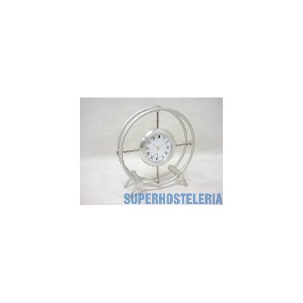 Reloj Aluminio Sobremesa Forma Rueda suministros hosteleros