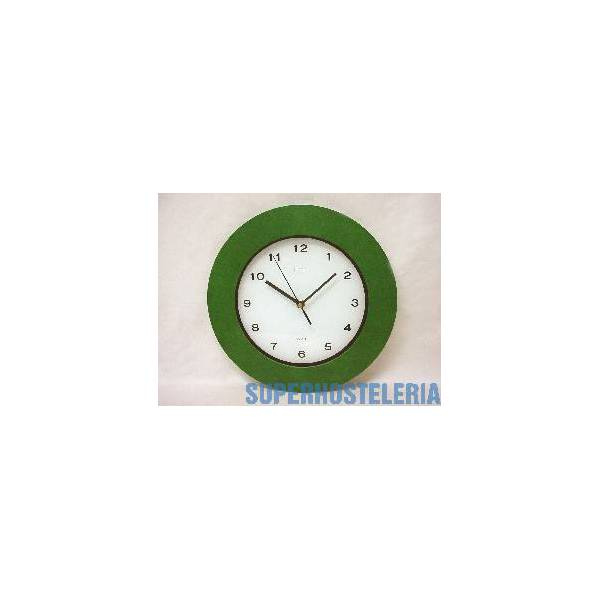 Reloj Redondo Madera Marco Verde
