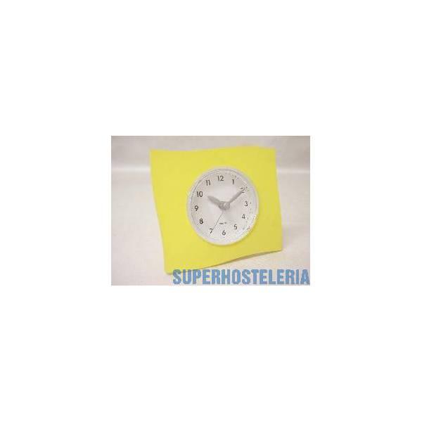 Reloj De Pie Grande Cuadrado Amarill