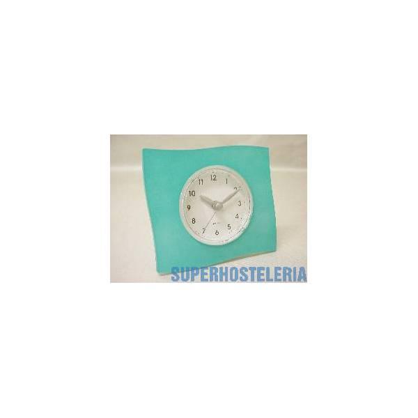 Reloj De Pie Grande Cuadrado Azul