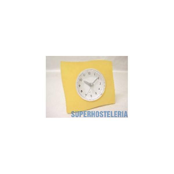Reloj De Pie Grande Cuadrado Naranja suministros hosteleros