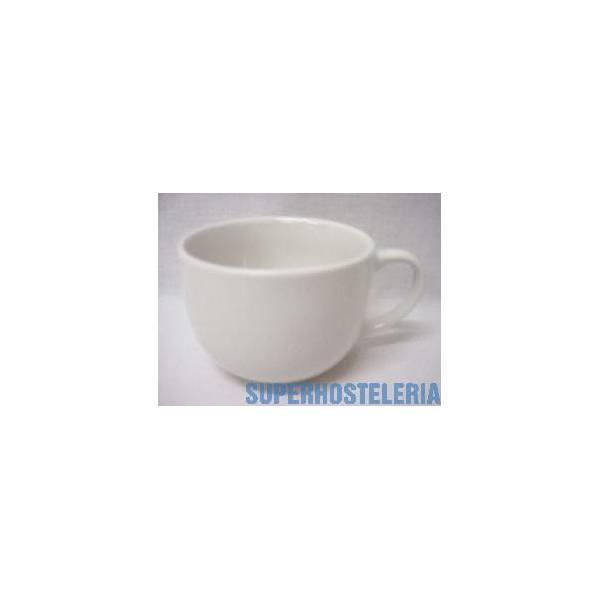 Taza Jumbo Grande Porcelana Blanco