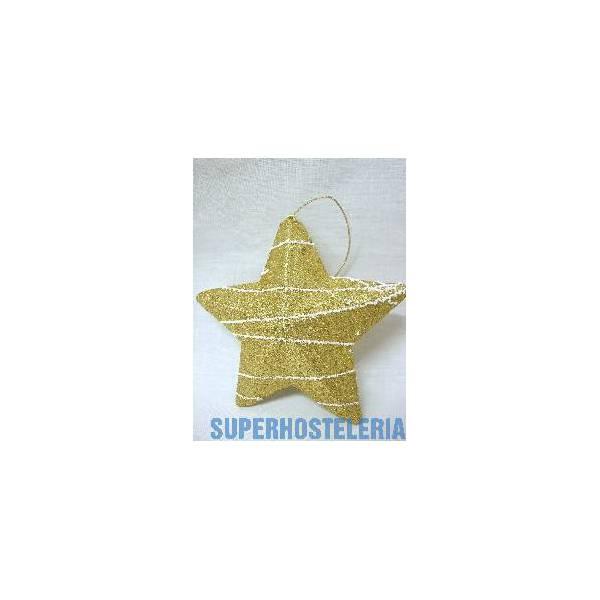 Colgante Navidad Estrella Dorada suministros hosteleros