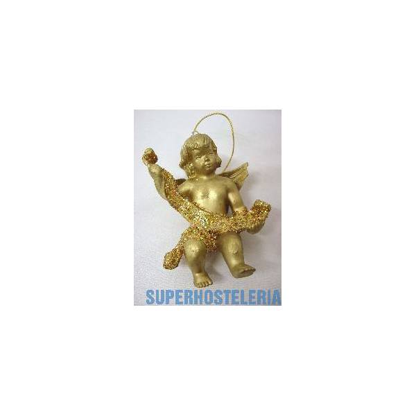 Angel Resina Navidad Pequeno Dorado