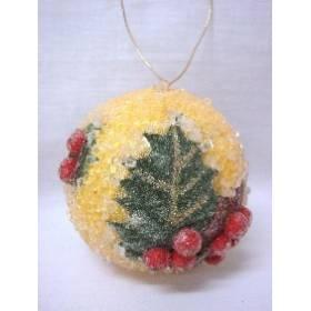 Colgante Navidad Bola Amarilla Grande