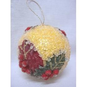 Colgante Navidad Bola Amarilla Pequeno